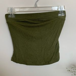 Free People army green tube top